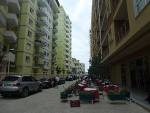 Hotelové sídlisko, Shengjin, pohľad zľava