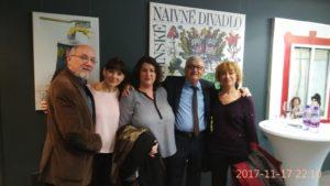 Maruška Nedomová a pán Štepka s divákmi